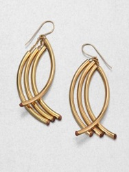 Nest Twisted Arc Earrings Gold