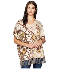 Double D Ranchwear Sunset On The Mountain Poncho Multi Clothing