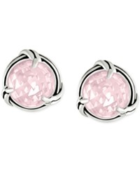 Peter Thomas Roth Rose Quartz Stud Earrings 4 1 2 Ct. T.W. In Sterling Silver