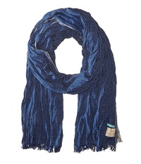 Scotch And Soda Chic Cotton Voile Scarf Navy Scarves