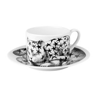 Fornasetti High Fidelity Teacup And Saucer Stellato