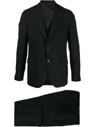 Gabriele Pasini Fitted Two Piece Suit Black