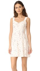 Wayf Hannah A Line Mini Dress Pale Pink Ditzy