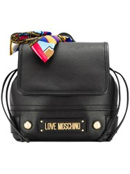 Love Moschino Scarf Detail Backpack Black