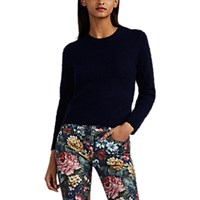 Acne Studios Brushed Wool Cashmere Crop Sweater Navy