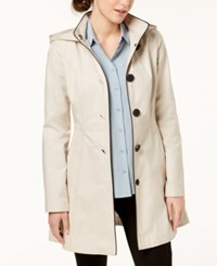 Laundry By Shelli Segal Skirted Back Bow Trench Coat Oatmeal