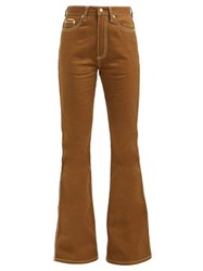 Eytys Oregon High Rise Flared Jeans Brown
