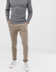 United Colors Of Benetton Slim Fit Chinos With Stretch In Grey