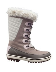 Helly Hansen Women's Garibaldi Faux Fur Lined Mid Calf Snow Boots Grey