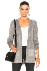 Atm Anthony Thomas Melillo Waffle Stitch Cardigan In Black Pink White Black Pink White