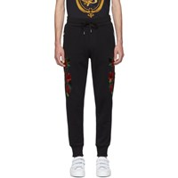Dolce And Gabbana Black Roses Lounge Pants