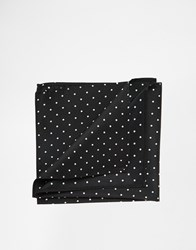 Asos Pocket Square With Polka Dot Black