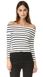 David Lerner Surrey Top Black White Stripe