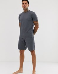 Emporio Armani Short Sleeve Pyjama Set Grey