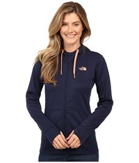 The North Face Fave Full Zip Hoodie Cosmic Blue Feather Orange Women's Sweatshirt