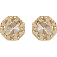 Grace Lee Women's Petite Crown Bezel Diamond Studs Yellow