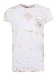 Topman Brown Stone Wash One Print Muscle Fit Roller T Shirt