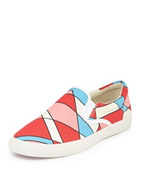 Bucketfeet Pasco Canvas Slip On Sneaker Red Blue