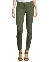 Minnie Rose Skinny Ankle Pants Army