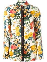 Fausto Puglisi Floral Print Shirt White
