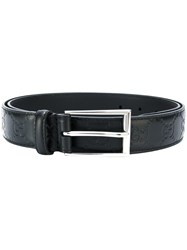 Gucci Gg Ghost Embossed Belt Unisex Leather Black