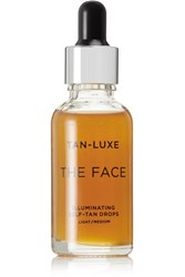 Tan Luxe The Face Illuminating Self Drops Light Medium Colorless
