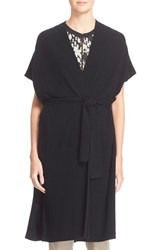 Women's Vince Belted Wool And Cashmere Wrap Cardigan Black