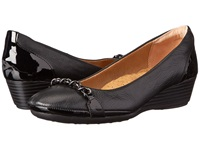 Softspots Cassia Black Black Calf Ionic Goat Patent Women's Wedge Shoes