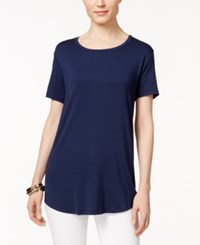 Jm Collection Short Sleeve Tee Only At Macy's Intrepid Blue