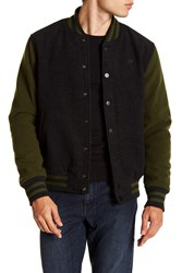 Hudson Jeans Colorblock Varsity Jacket Embarco
