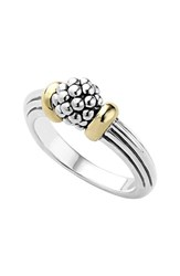 Lagos Women's 'Caviar Forever' Small Dome Ring Silver Gold