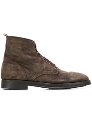 Alberto Fasciani Lace Up Ankle Boots Brown