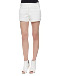 Alice Olivia Patterned Cady Structured Shorts