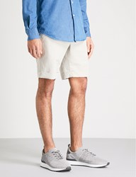 Slowear Slim Fit Linen And Cotton Blend Chino Shorts Stone