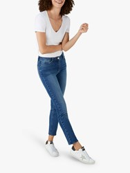 Pure Collection Duchy Cropped Jeans Mid Wash
