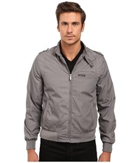Members Only Iconic Racer Jacket Grey Men's Coat Gray