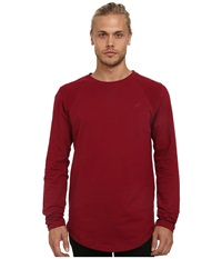 Publish Augusta Light Terry Long Sleeve Knit Maroon Men's Long Sleeve Pullover Red