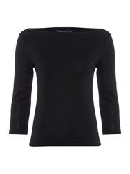 Polo Ralph Lauren 3 4 Sleeve Boatneck Top Black