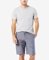 Dockers Men's Classic Fit Stretch Perfect Short Chambray Blue