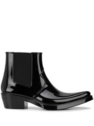 Calvin Klein 205W39nyc Pointed Toe Chelsea Boots Black
