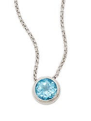Saks Fifth Avenue Sterling Silver Mini Round Pendant Necklace