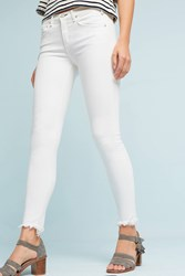 Anthropologie Mcguire Newton Mid Rise Skinny Jeans White