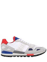 Bikkembergs Logo Suede And Nylon Running Sneakers