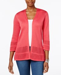 Jm Collection Open Knit Cardigan Only At Macy's Perfect Rose