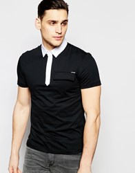 Antony Morato Slim Polo Shirt With Contrast Collar Black