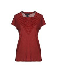Marc By Marc Jacobs T Shirts Brick Red