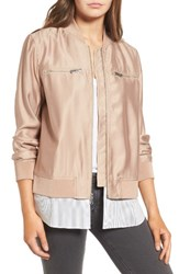 Trouve Women's Layered Look Bomber Jacket