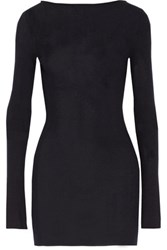 Jil Sander Ribbed Cashmere And Silk Blend Sweater Midnight Blue