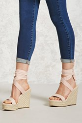 Forever 21 Ankle Wrap Espadrille Wedges
