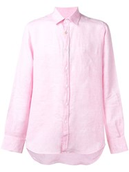 Canali Simple Shirt Pink